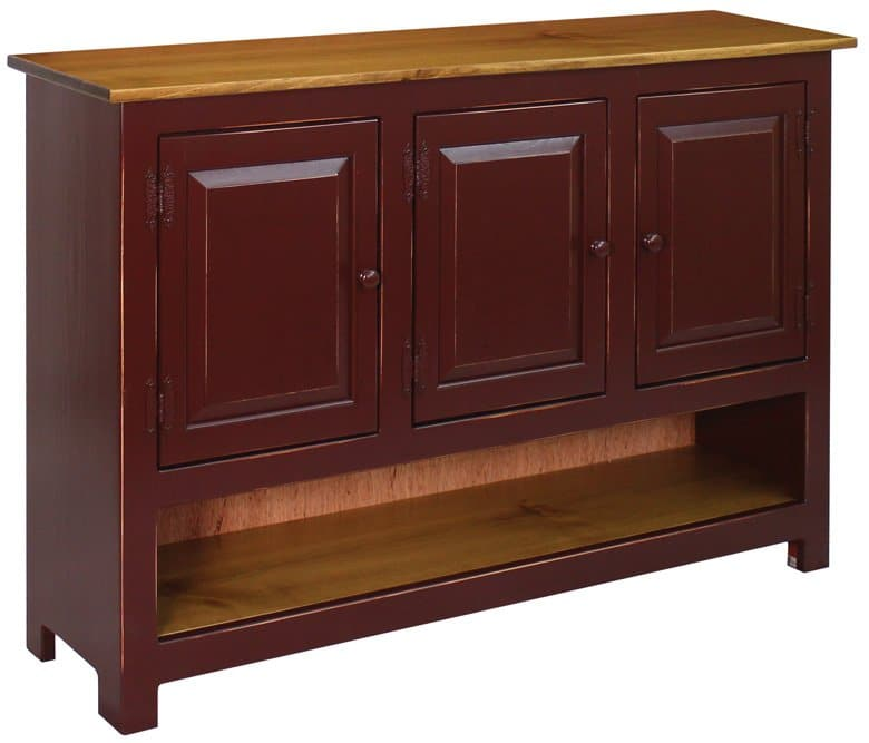 Hidden Acres Entertainment Center Burgandy-780x667